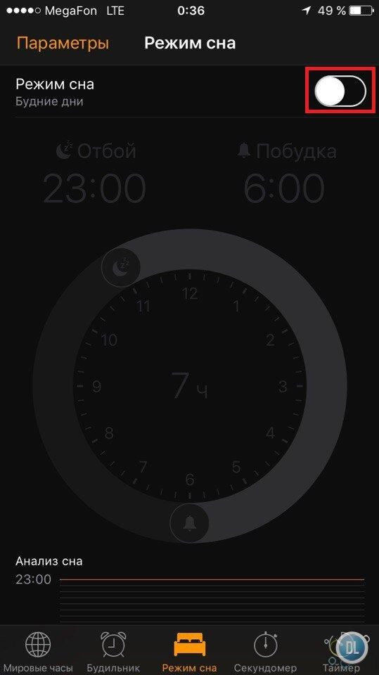 виду используемых режим сна на айфон SAS